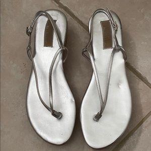 Michael Kors silver sandals